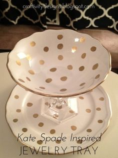 DIY Candlestick Jewelry Tray, Kate Spade Inspired