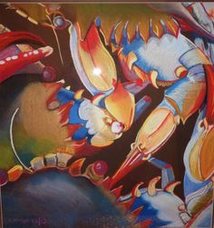 crab after? End Of Year Party, Art Party, Pastels, Vibrant, Student, Painting, Painting Art, Paintings, Painted Canvas
