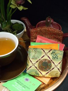 Tea Bag Travel Wallet - Imperial Gold, $9.95