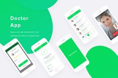 Doctor Application Free UI Kit PSD Template