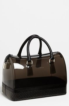 Ohhhh yes! Furla 'Candy - Dot' Rubber Satchel available at #Nordstrom --I want this for [ ;) ] reasons... Lol