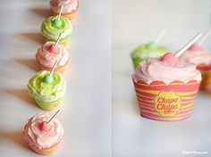 Cupcakes de Chupa-Chups - Bake-Street.com