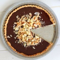 Chocolate, Coconut and Macadamia Tart recipe