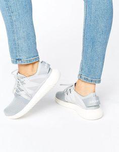 Image 1 of adidas Originals Gray Mesh Tubular Sneakers