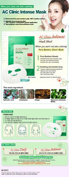 Etude House Korea Jakarta: Etude House AC Clinic Mask Sheet Set 1EA