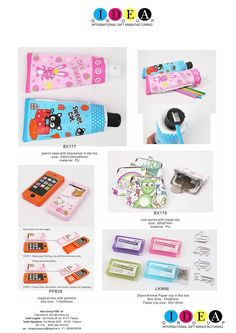 Pencil case with sharpener on the top | magic box with stickers | 20pcs animal paper clip with box | coin purse with metal clip www.ideagroupigm.com