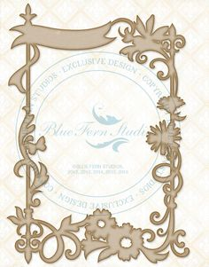 Blue Fern Studios - Chipboard - Garden Celebration Frame
