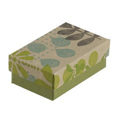 """from Rio Grande: Simply Nature Recycled Paper 2-1/2""""W x 1-1/2""""D x 7/8""""H Gift Box.  Made in the USA."""