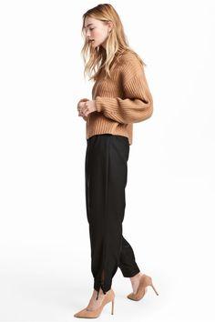 Szerokie spodnie - Czarny - ONA | H&M PL 1