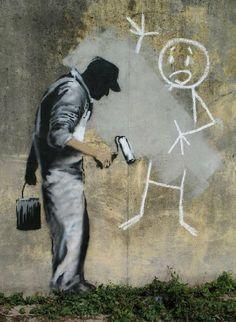 """Banksy """"The Gray Ghost """". #banksy http://www.widewalls.ch/artist/banksy/"""