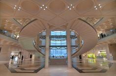 Stairs of Museum of Islamic Art. Doha, Qatar