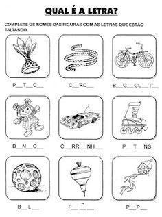 Atividades primeiro ano - Atividades De Alfabetização - Complete as palavras                                                                                                                                                                                 Mais