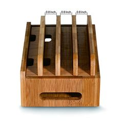 Merit Bamboo Multi-device Cords Organizer Stand and Charging Station Docks for Smart Phones and Tablets: Amazon.co.uk: Electronics