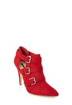 Buckled Faux Suede Booties | FOREVER21 - 2055879945