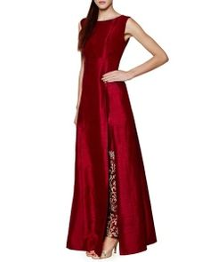Anita Dongre Red Raw Silk Kurta with Pants