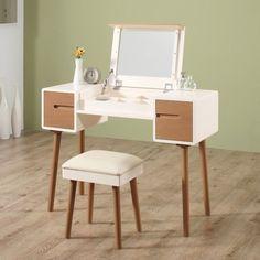 Furniture Vanity, Space Furniture, Unique Furniture, Furniture Making, Dressing Table Design, Dressing Table Vanity, Vanity Tables, Minimalist Dressing Tables, Mid Century Modern Vanity
