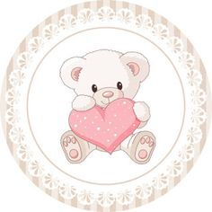 Teddy Bear for Girls: Free Printable Mini Kit for Baptism. Mulan 3, Baby Shawer, 3rd Baby, Scrapbooking Image, Valentines Day Bears, Teddy Bear Party, Little King, Baby Mermaid, Bottle Cap Images