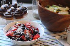 mint sugar berries