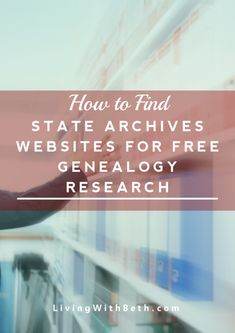 State archives and historical societies can provide useful and free information for researching your genealogy. Here's a list of state archives websites. Free Genealogy Sites, Genealogy Research, Family Genealogy, Ancestry Records, Family Research, Historical Society, Family History, Cemetery, Roots