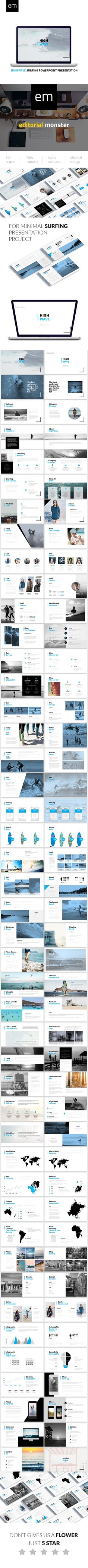 High Wave - Surfing Powerpoint Presentation Template