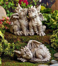 Garten Statuen Drachen Figur Fantasie Dekor Keramik Skulptur Hof Gartenregal Keramik 2019 Gartenstatue Statuen Drachen