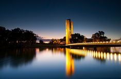 The National Carillon. Australia Capital, Australia Travel, Cool Pictures, Cool Photos, Amazing Photos, Daejeon, Dawn And Dusk, Lake Photos, Vacation Places