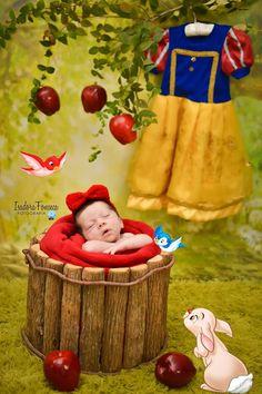 Disney Snow White inspired newborn photography
