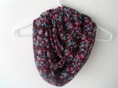 Floral Infinity Scarf. $12.00, via Etsy.