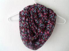 Floral Infinity Scarf. $12.00, via Etsy.