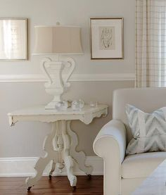 """Sarah Richardson Design: The rule of thumb with trim and baseboard details is that bigger generally looks better. Underscaled trim details make the architecture of a home look cheap, whereas chunkier profiles will help frame your home in style! Even in a home with standard 8' ceilings, you should still use a baseboard at least 7"""" in height."""