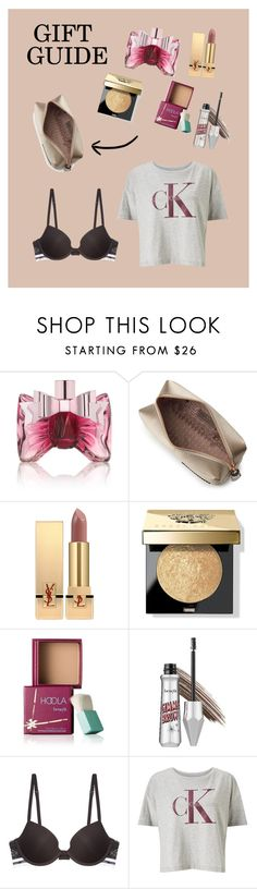 """""""Gift Guide 🎁"""" by hannahmoeller0701 ❤ liked on Polyvore featuring beauty, Viktor & Rolf, Anya Hindmarch, Yves Saint Laurent, Bobbi Brown Cosmetics, Benefit, Calvin Klein Underwear and Calvin Klein"""