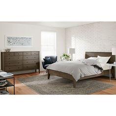 Calvin Bed & Dresser in Bark