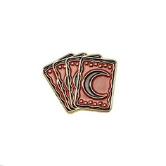 """1"""" brass lapel pin for those who consult the tarot."""