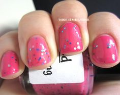 pretty & polished. chelsea chelsea bling bling. over sinful colors. cream pink.