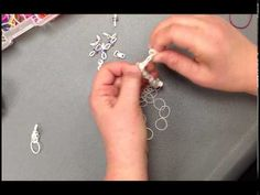 FLOATING CHARMS Bracelet. Designed by Wendy Cooper. Tutorial by Robin Beam at Official A.C. Moore. Click photo for YouTube tutorial.
