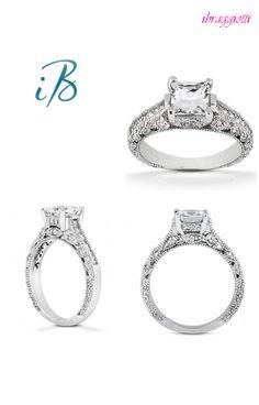 princess cut diamond engagement rings #valentine
