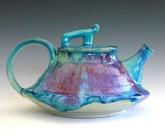 Ceramic teapot by Kazem Arshi