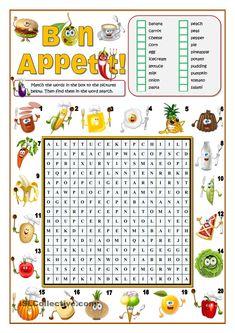 BON APPETIT! - FOOD WORD SEARCH