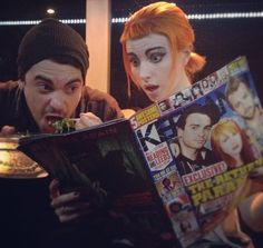 Taylor York and Hayley Williams