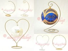 (MEASURE YOUR ITEM (BAUBLE, EGG, OTHER) BEFORE BUYING. IT IS IMPORTANT TO BUY A STAND BIGGER THAN YOUR ITEM. A PAINTED METAL STAND. IF YOU CAN NOT BE BOTHERED MEASURING, STAY ON THE SAFE SIDE, AND BUY BIGGEST ;). | eBay! Christmas Baubles, Christmas Art, Christmas Decorations, Beaded Ornaments, Angel Ornaments, Diy Ornaments, Paper Flower Backdrop, Paper Flowers, Gear Template