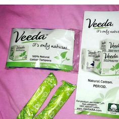 """""""Did you guys know conventional pads and tampons contain loads of chemicals, dyes and as a result can be the reason for irritations and allergic reactions. BUT the good news is that there are brands like Veeda that makes natural cotton feminine care products."""" Thank you @cleanbeautycleansoul for the #veedareview"""