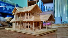 Bungalow House- Bamboo stick Miniature
