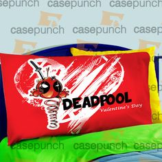 Mz3-spiderman Hearts Deadpool In Valentine Pillow Case For Bed Bedding