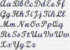 Top Alfabeto Punto Croce Corsivo Maiuscolo E Minuscolo Tattoo Bebè