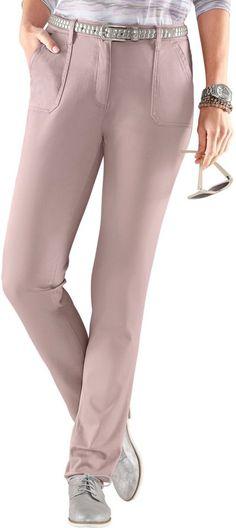 Collection L. Hose in Stretch-Qualität ab 39,99€. Angenehm weiche Hose, Baumwolle, Elasthan, Mit rückwärtigem Sattel bei OTTO