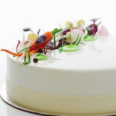 carrot cake creme fraiche mousse and lemon curd entremet by @paulkennedysavour