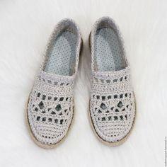 """Обувь ручной работы. Ярмарка Мастеров - ручная работа. Купить Льняные слиперы """" Натали"""". Handmade. Бежевый, обувь вязаная"""