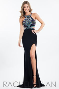 0dda4b818e53 Rachel Allan Princess Prom Dresses dress with Style - Neckline - Cut Out,  Fabric - Jersey, Silhouette - Fitted Long and Color - Black