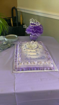 Princess themed baby shower cake