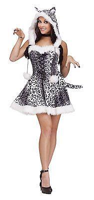 Adult Sexy Snow Leopard Animal Costume Halloween - Exotic Cat Costume